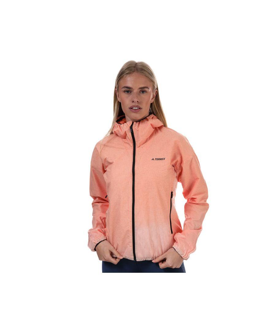 Image for Women's adidas Windweave Lite Windbreaker Jacket Peach 4-6in Peach
