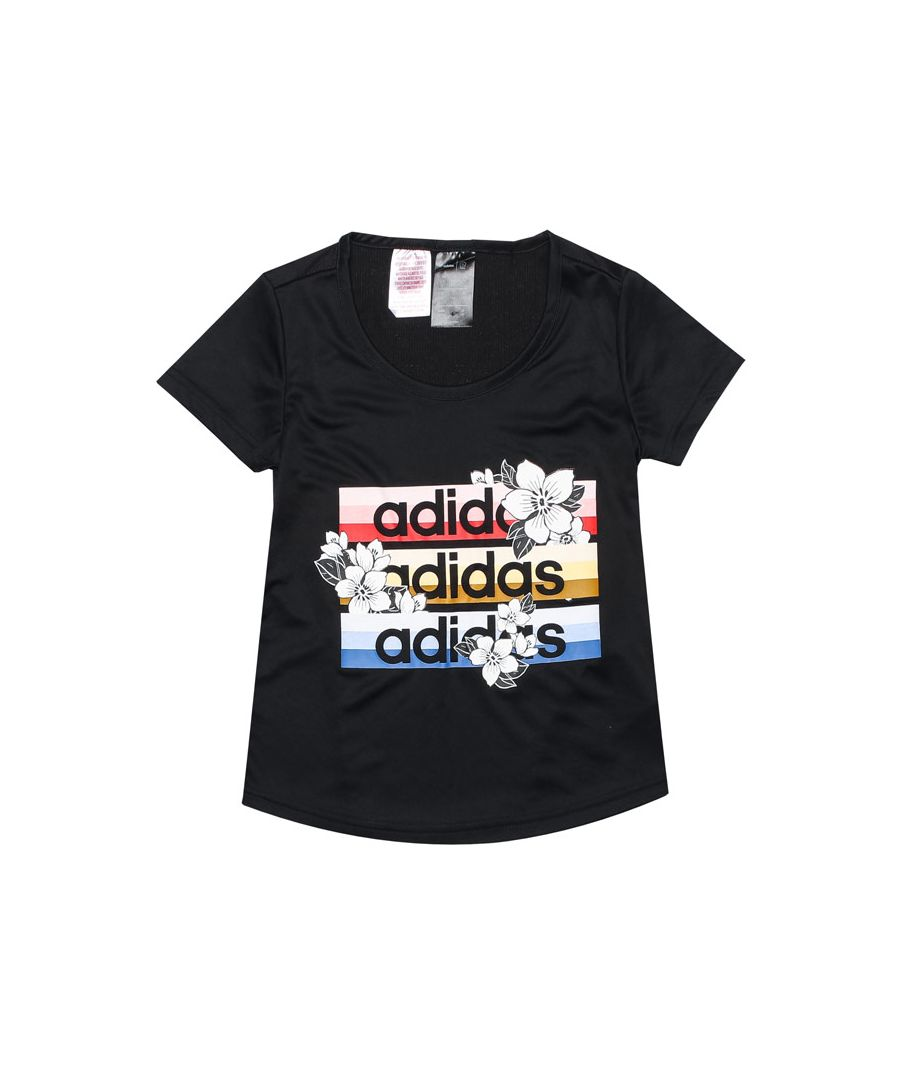 Image for Girl's adidas Junior Farm Rio Cardio T-Shirt in Black