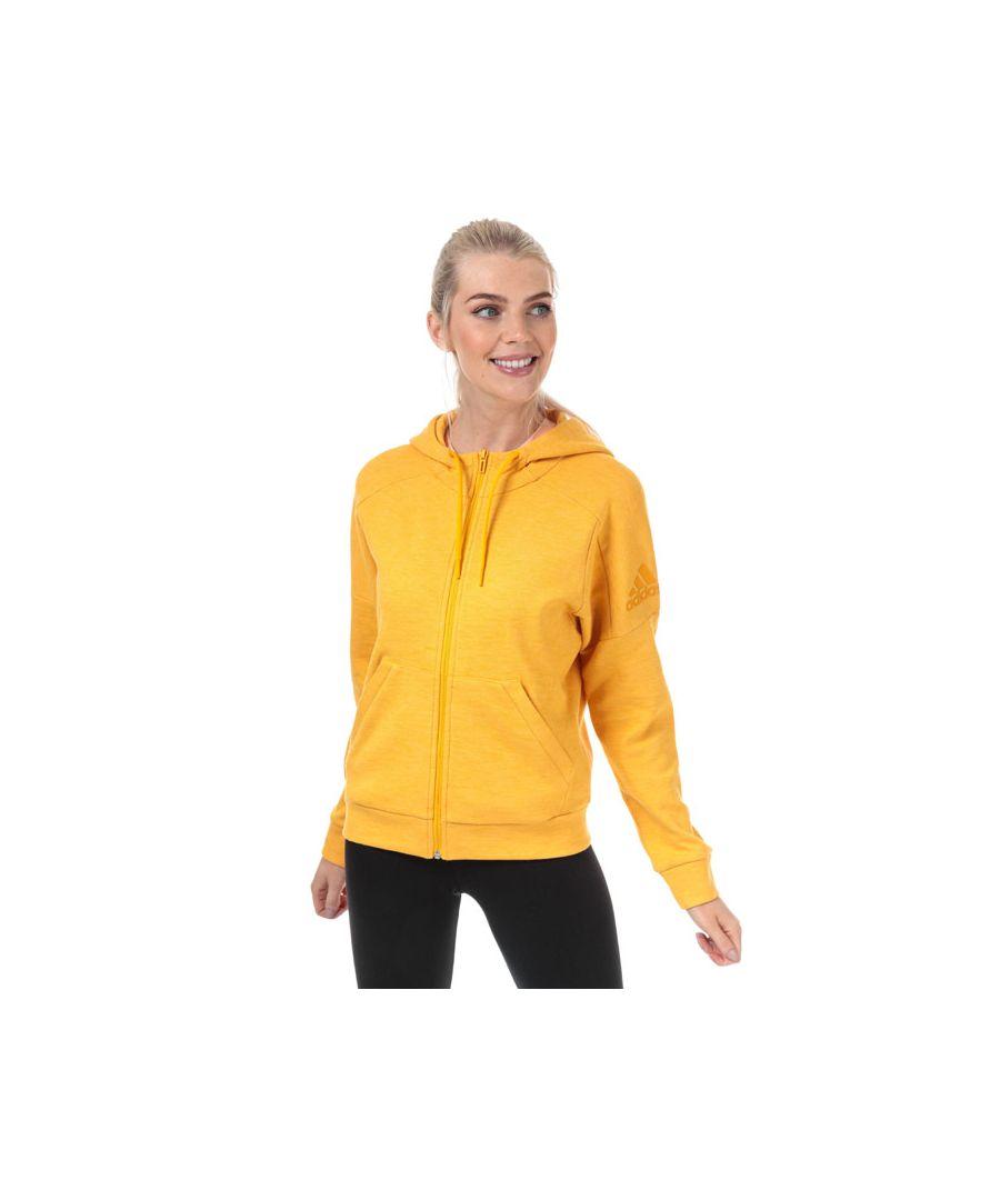 Image for Women's adidas Id Melange Zip Hoodie in Gold