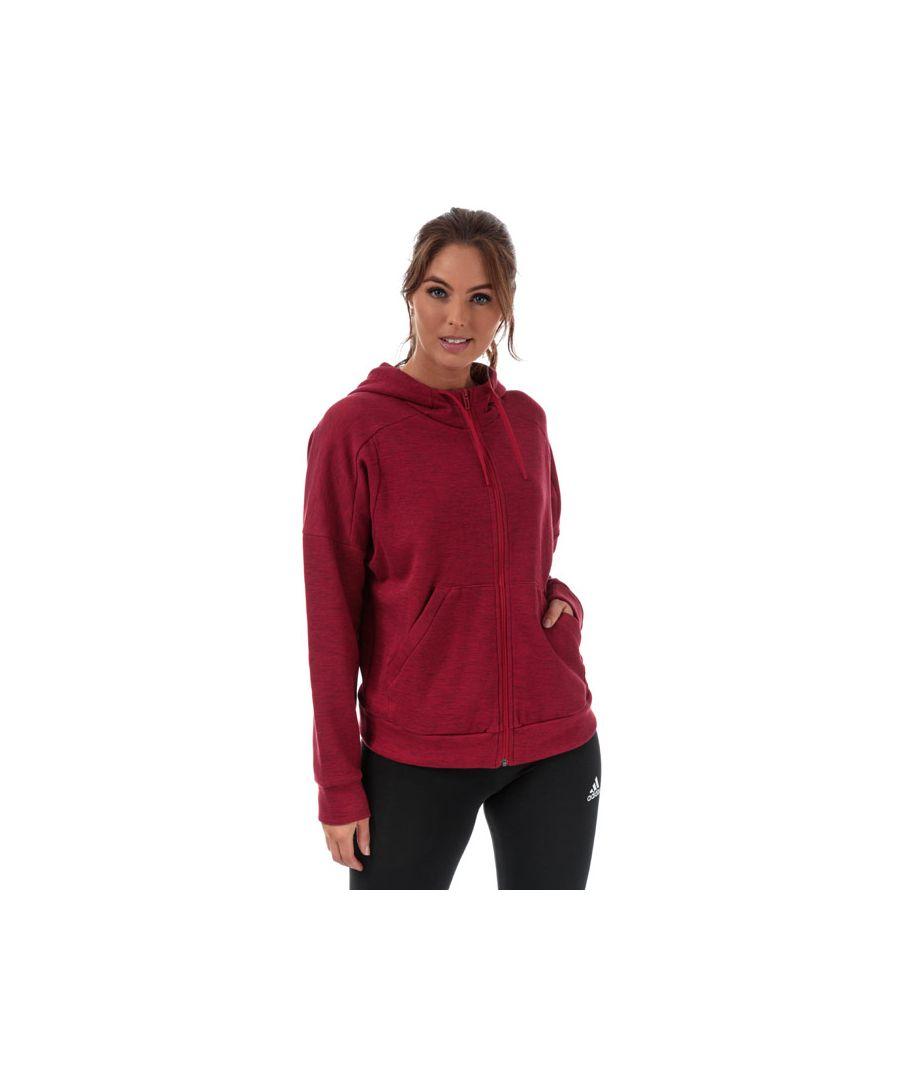 Image for Women's adidas ID Melange Zip Hoody in Burgundy