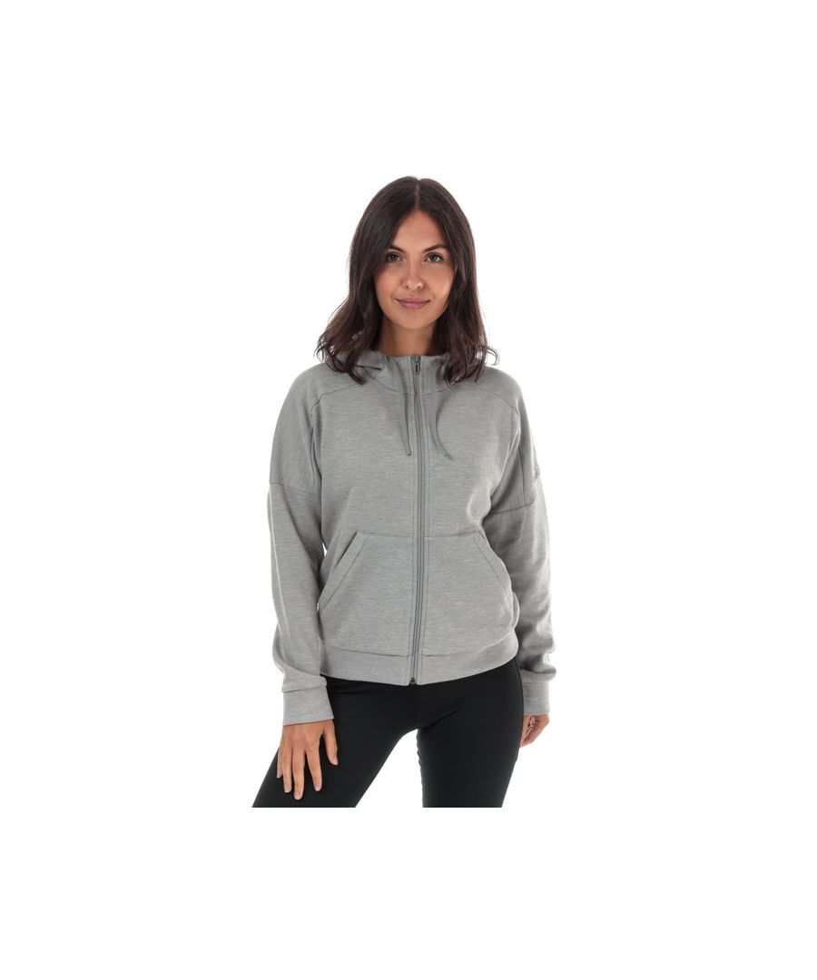 Image for Women's adidas ID Melange Zip Hoody in Grey Marl