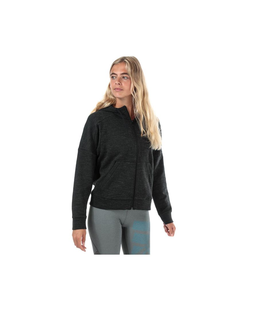 Image for Women's adidas ID Melange Zip Hoody in Black Grey
