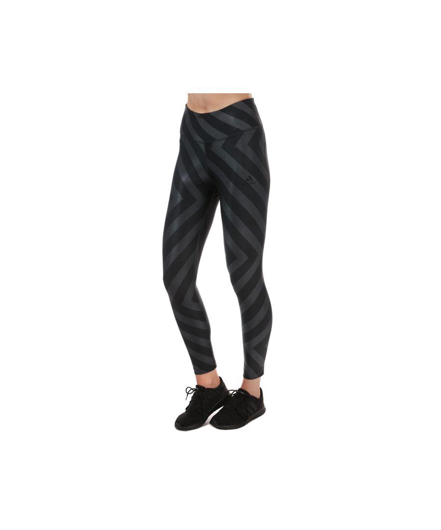 Image for Women's adidas Allover Graphic Leggings  Black 8-10in Black