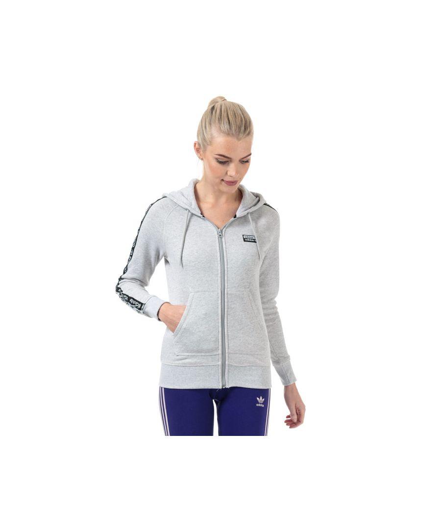 Image for Women's adidas Originals R.Y.V. Zip Hoody in Light Grey