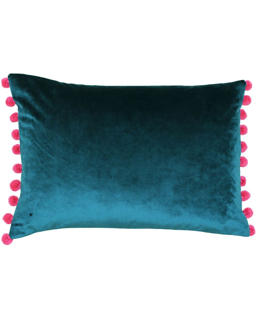 Image for Fiesta Poly Cushion 35X50 Tea/Berry