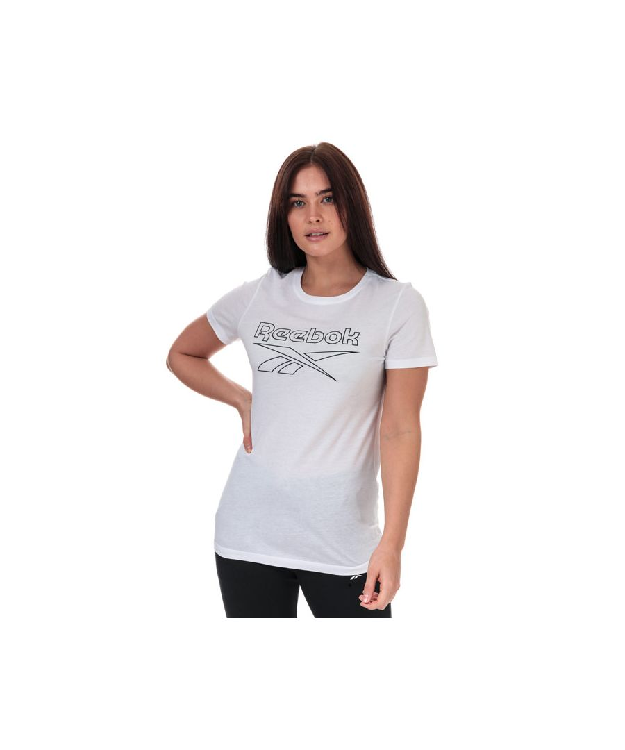 Image for Women's Reebok Training Essentials Graphic T-Shirt in White