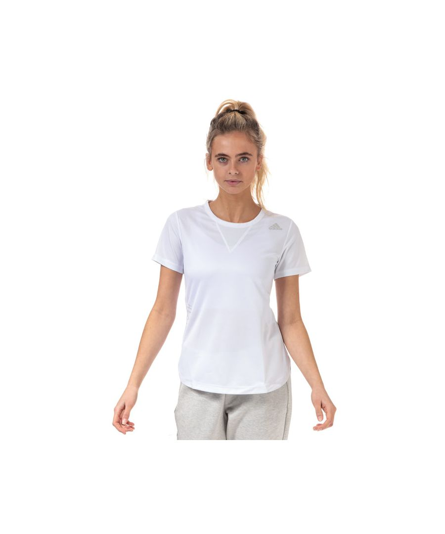 Image for Women's adidas HEAT.RDY 3-Stripes Training T-Shirt in White