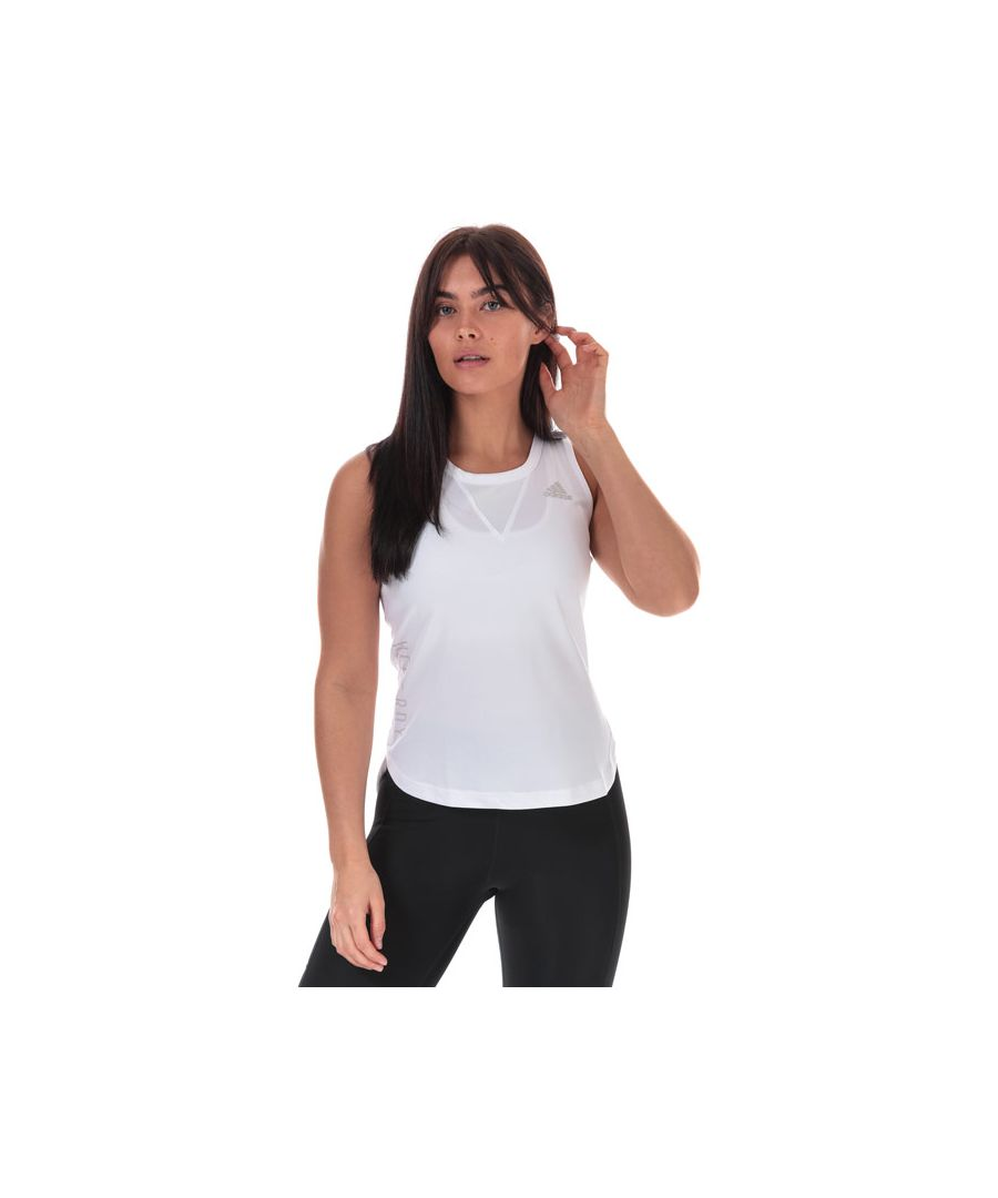 Image for Women's adidas HEAT.RDY 3-Stripes Tank Top in White