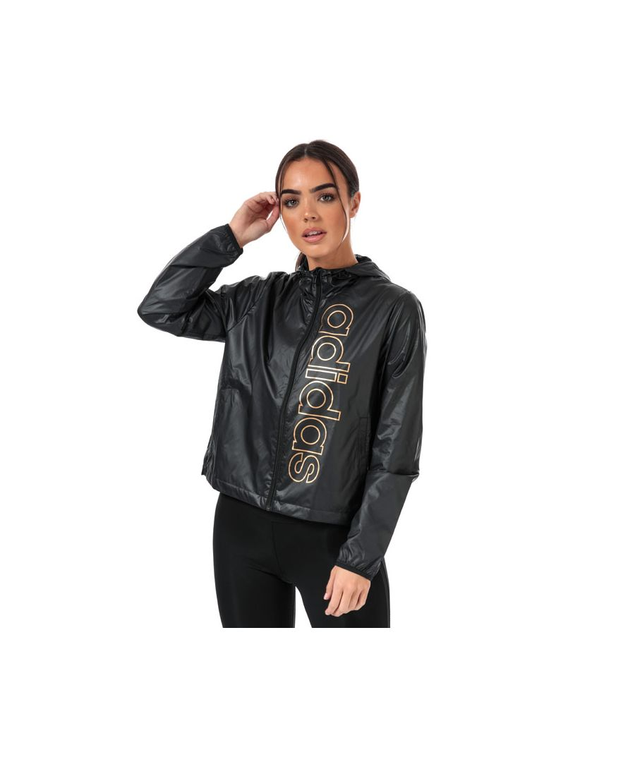 Image for Women's adidas Essentials Branded Windbreaker Jacket in Black