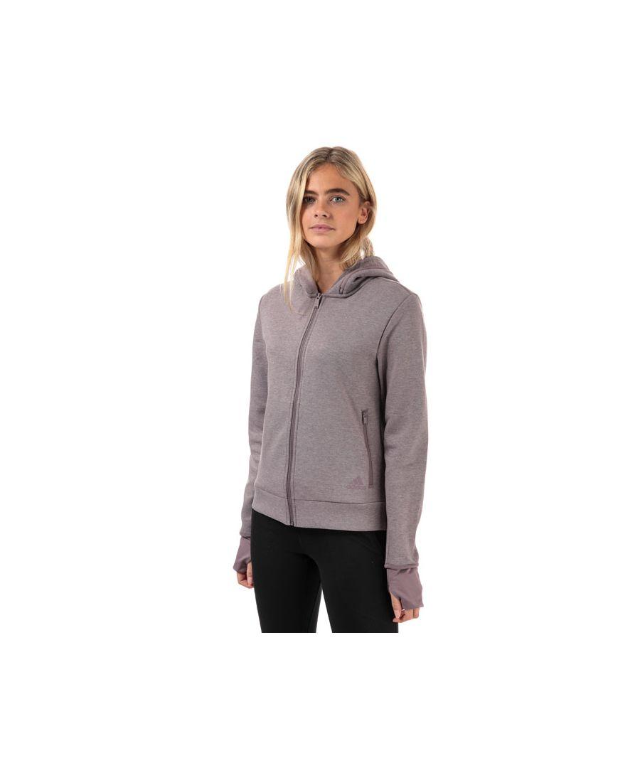 Image for Women's adidas Must Haves Versatility Zip Hoody in Purple