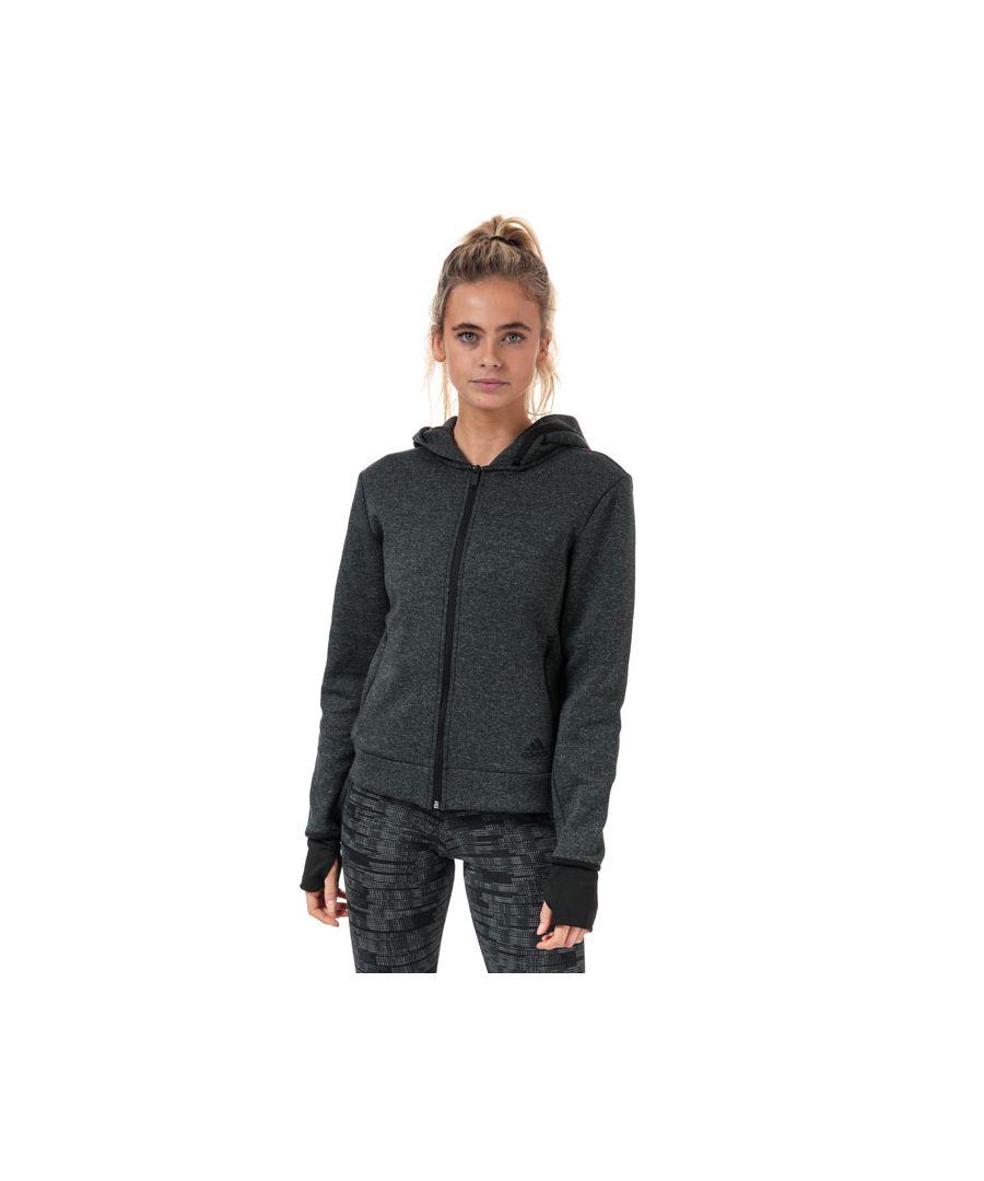 Image for Women's adidas Must Haves Versatility Zip Hoody in Black Marl