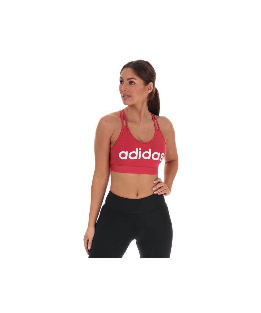 Image for Women's adidas Essentials Sports Bra Top in red white