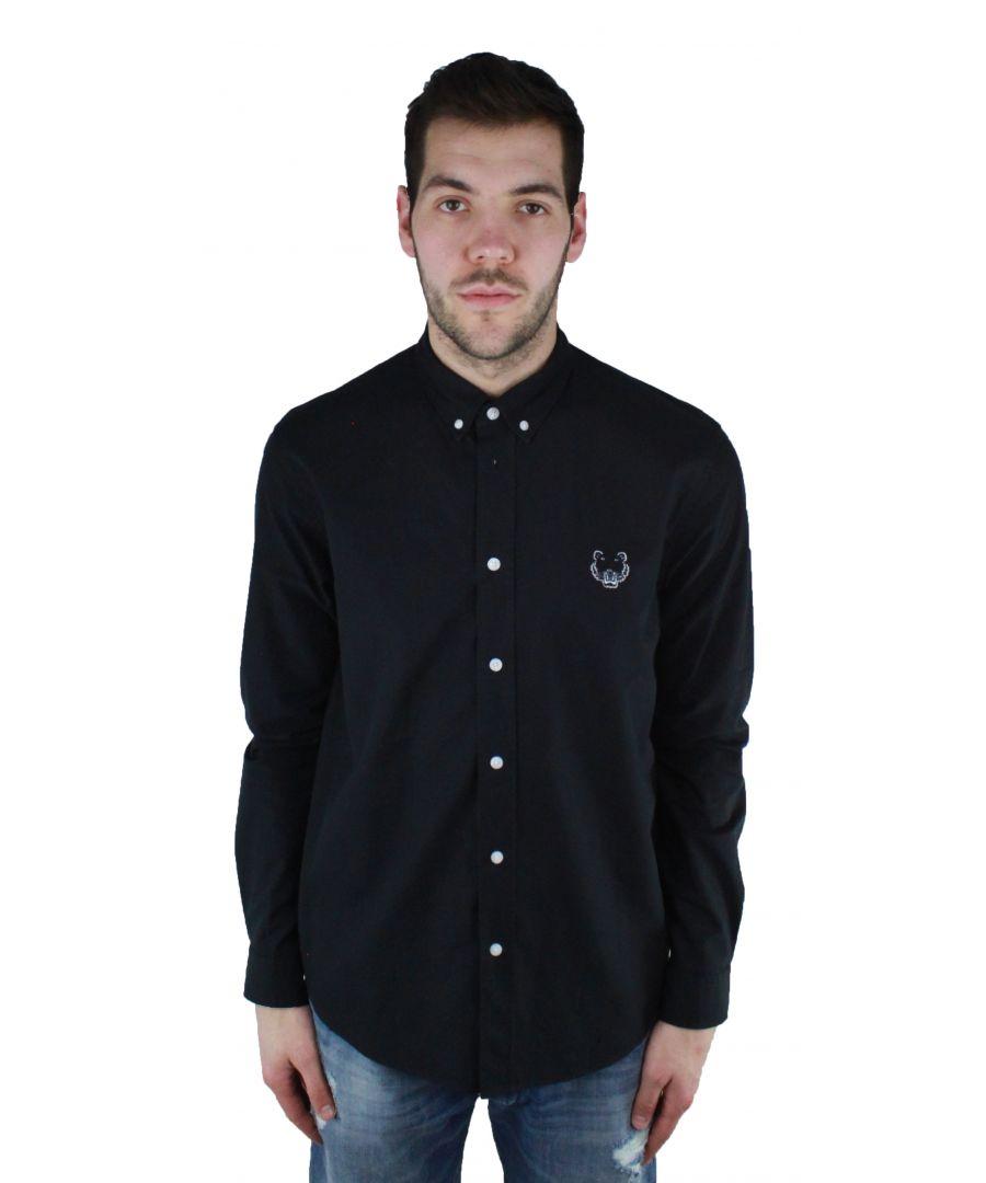 Image for Kenzo F855CH4001LB 99 Black Casual Shirt