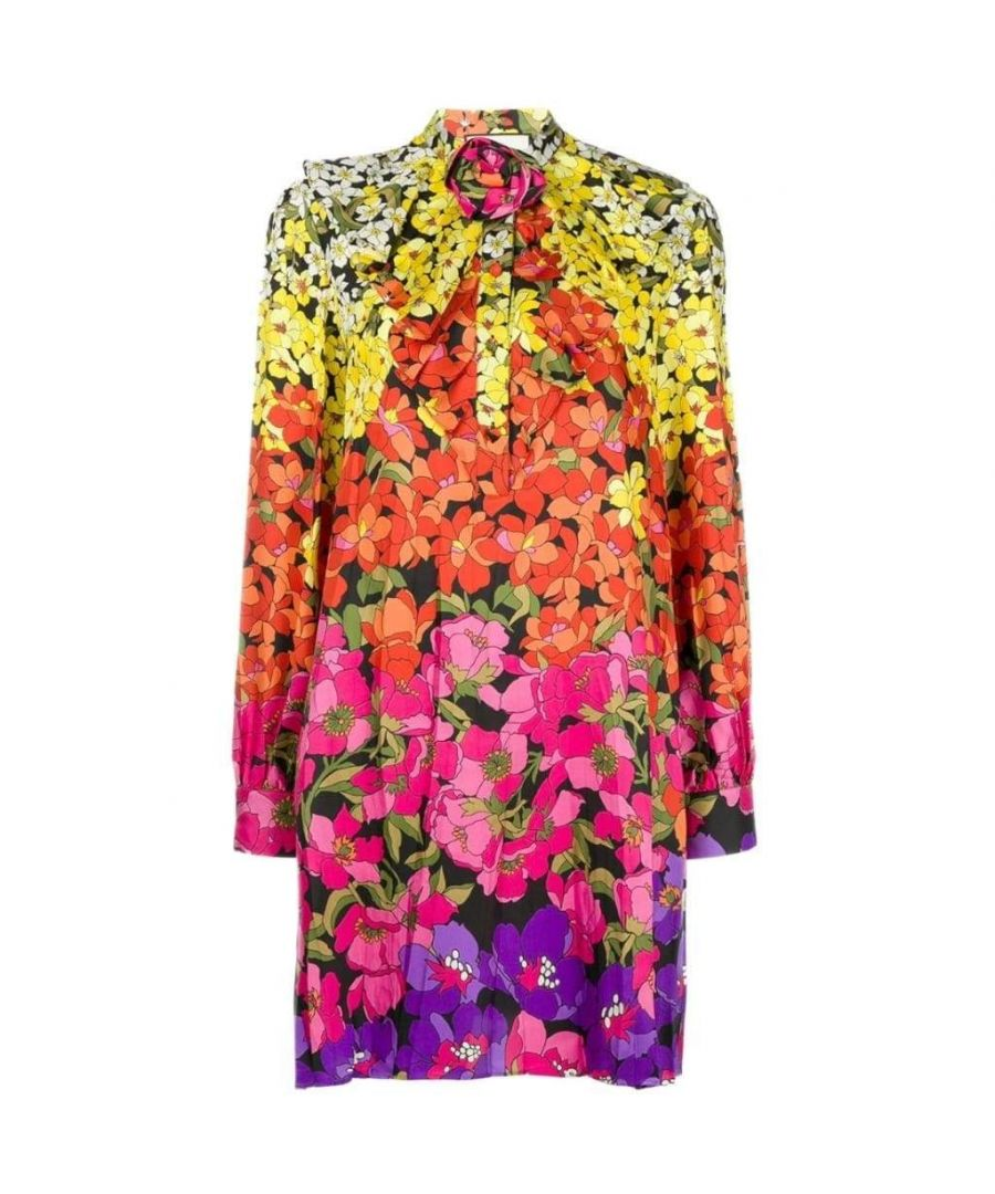 Image for Gucci Floral Print Bow Dress
