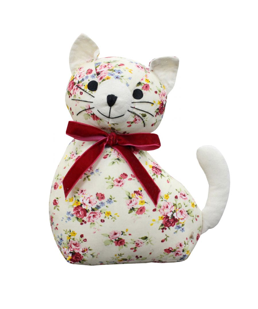 Image for Floral Cat Doorstop
