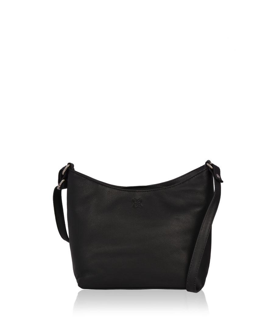 Image for Fleur Leather Cross Body Bag in Black