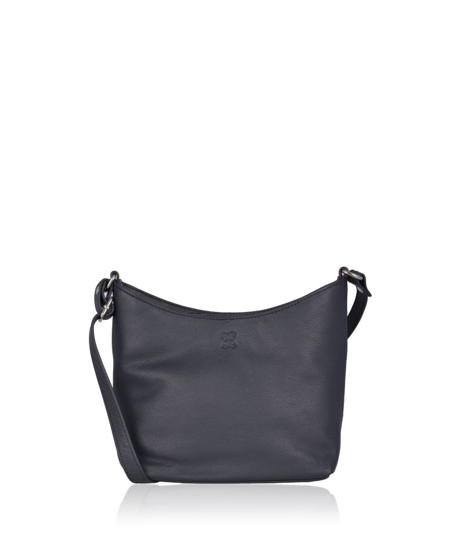 Image for Fleur Leather Cross Body Bag in Navy