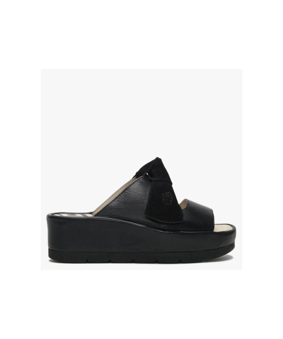 Image for Fly London Bade Suede Flatform Mules