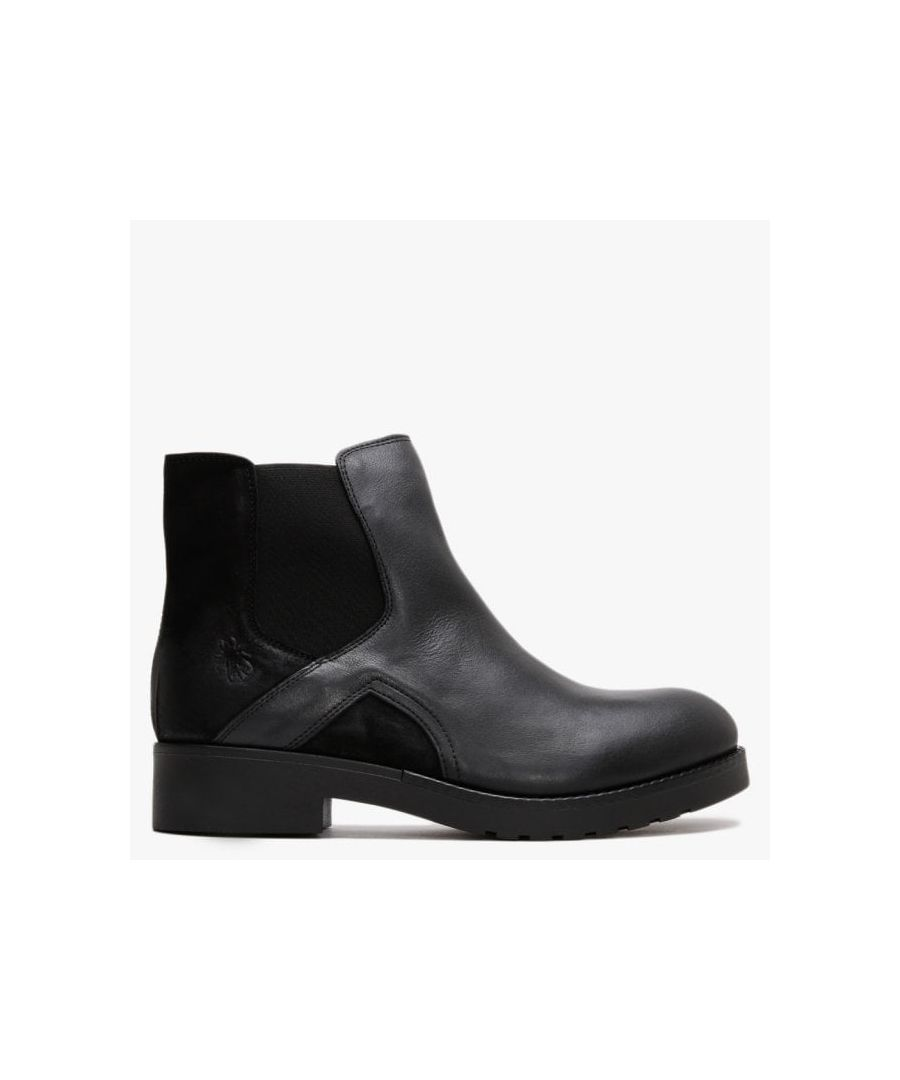 Image for Fly London Boge Leather & Suede Chelsea Boots