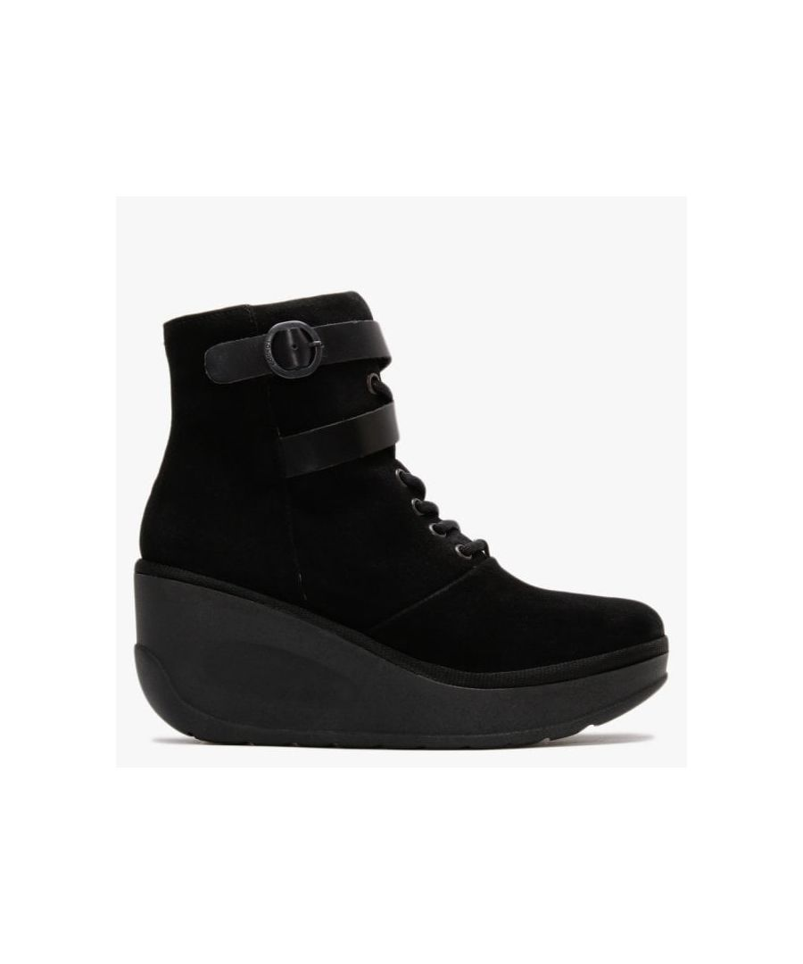 Image for Fly London Jabi Suede Wedge Ankle Boots