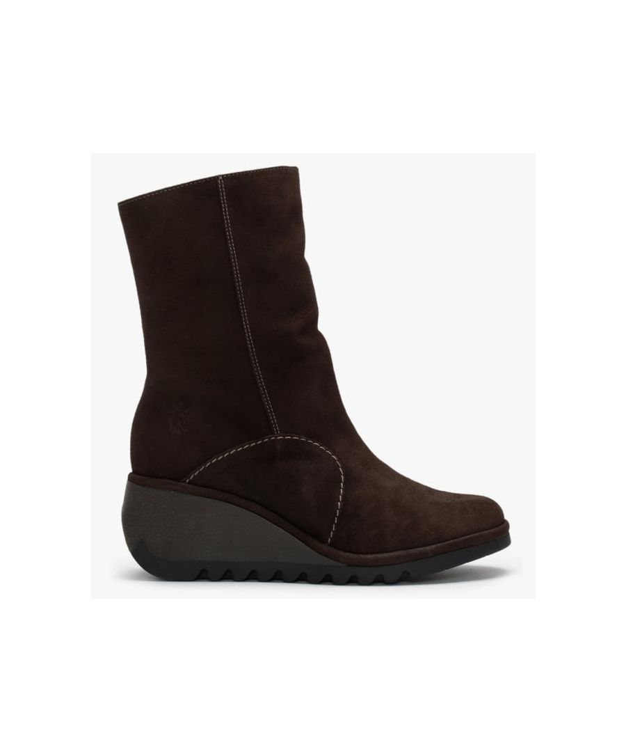 Image for Fly London Nort Suede Wedge Ankle Boots
