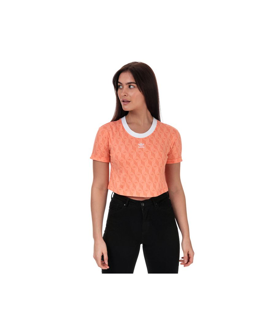Image for Women's adidas Originals Crop T-Shirt in Coral