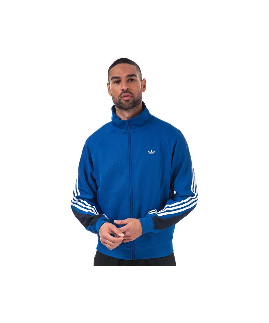 Image for Men's adidas Originals 3-Stripes Wrap Track Top in Royal Blue