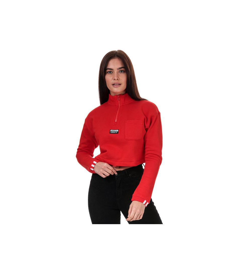 Image for Women's adidas Originals Cropped Sweatshirt in Red
