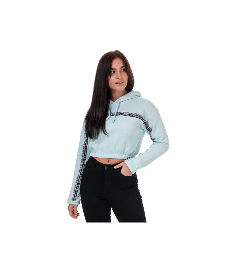 Image for Women's adidas Originals Cropped Hoody in Sky Blue