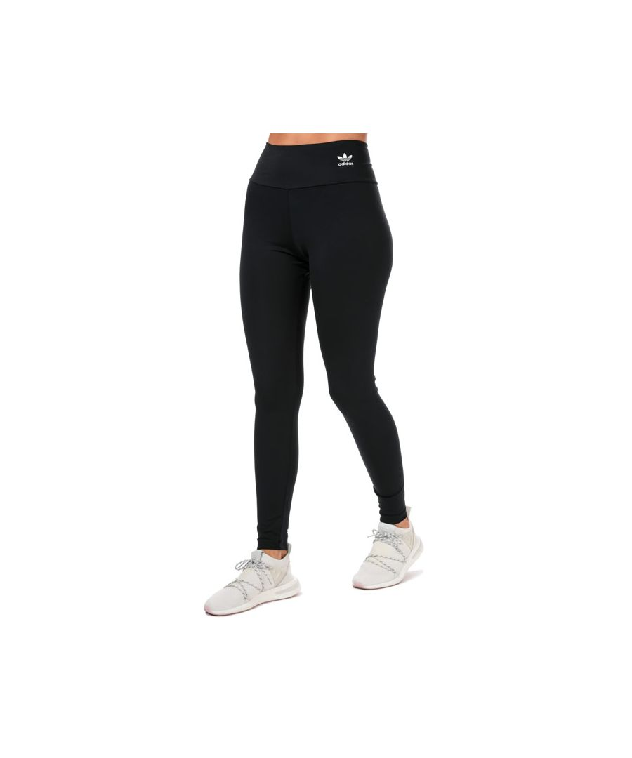 Image for Women's adidas Originals Adicolor Leggings in Black-White