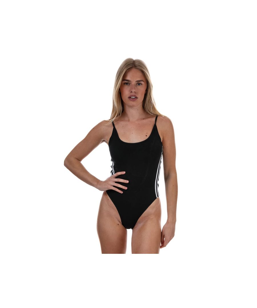 Image for Women's adidas Originals Cotton Bodysuit Black-White 4in Black-White