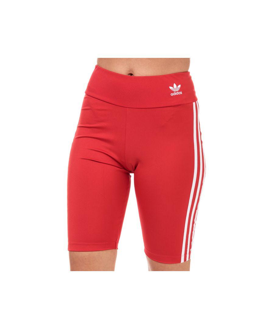 Image for Women's adidas Originals Biker Shorts in red white