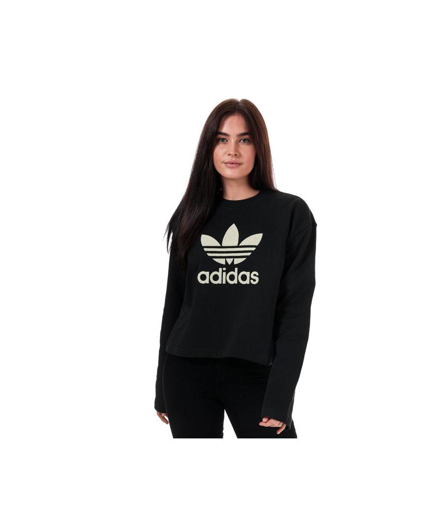Image for Women's adidas Originals Premium Crew Sweatshirt in Black