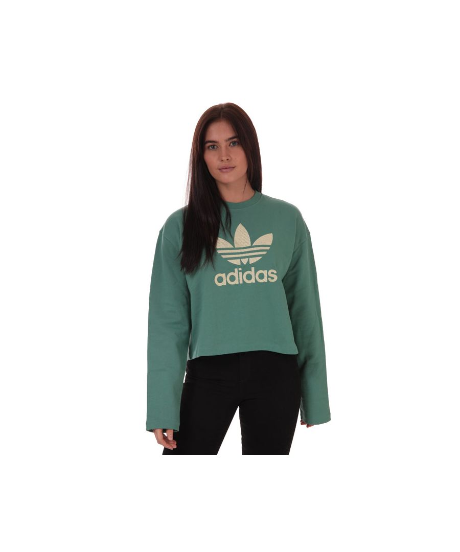 Image for Women's adidas Originals Premium Crew Sweatshirt in Green