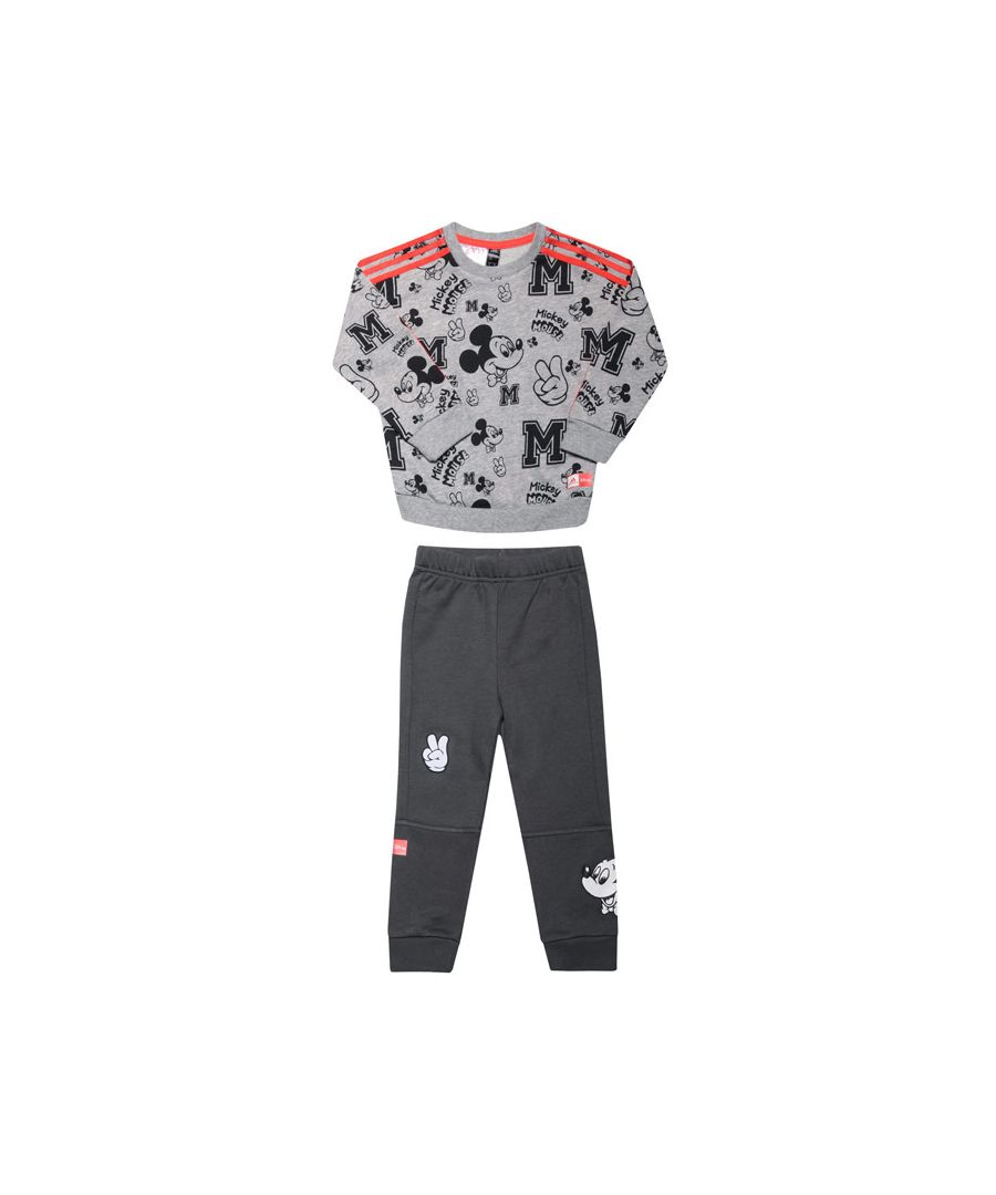 Image for Boy's adidas Baby Disney Mickey Mouse Jogger Set in Grey