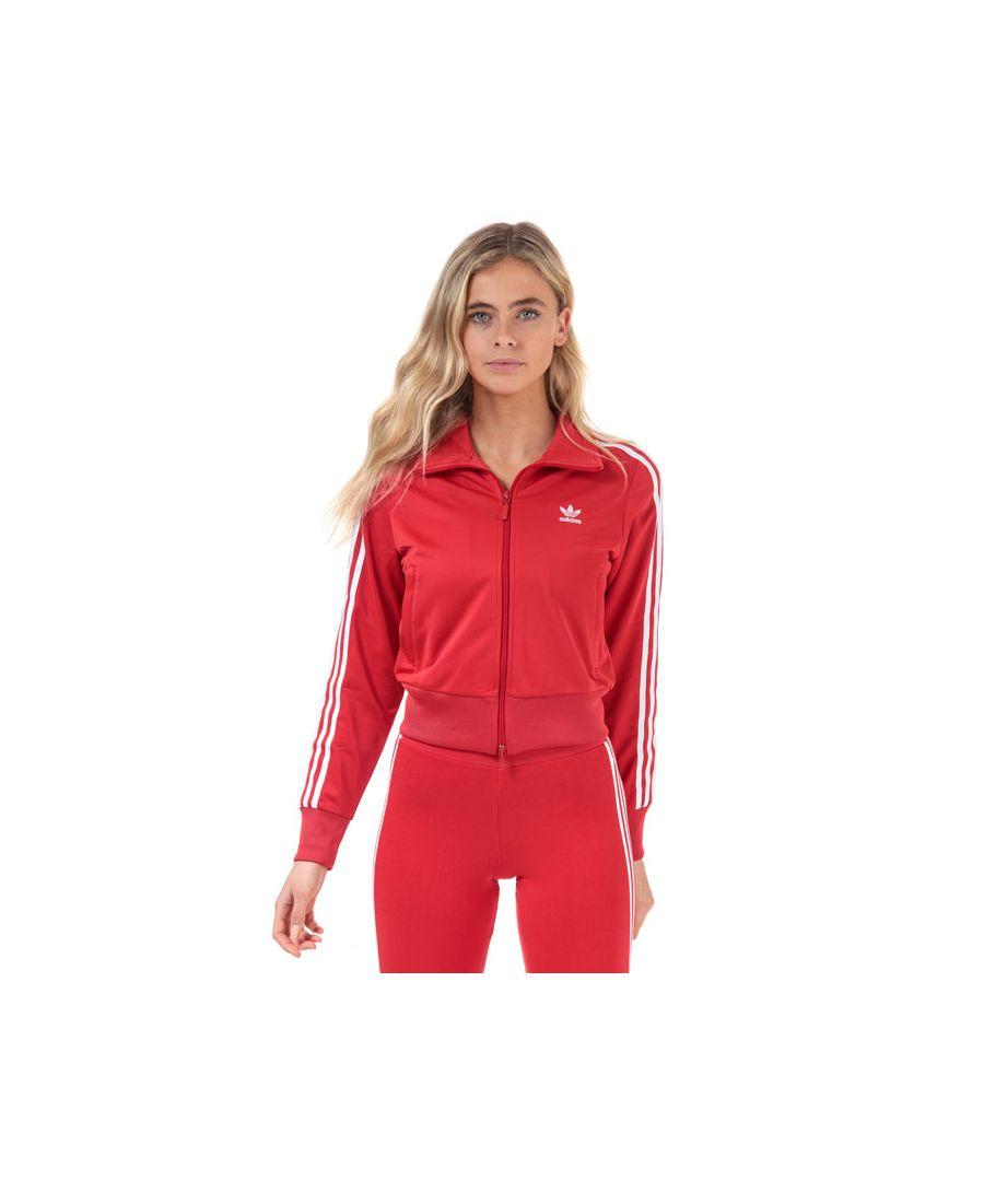 Image for Women's adidas Originals Firebird Track Top in Red