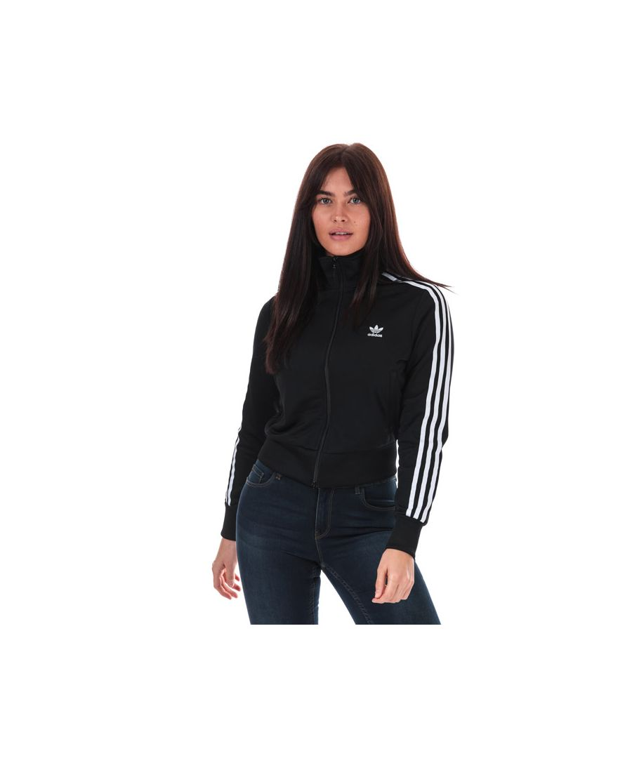 Image for Women's adidas Originals Firebird Track Top in Black-White