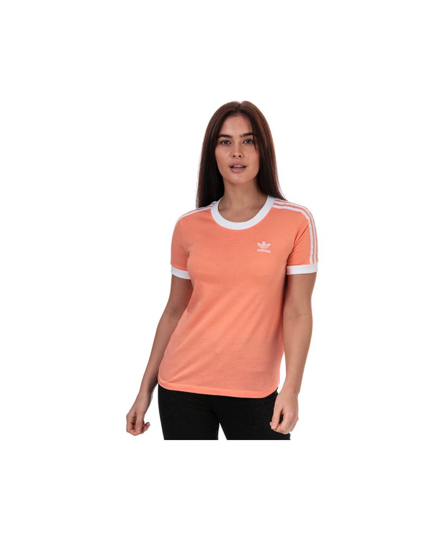 Image for Women's adidas Originals 3-Stripes T-Shirt in Coral