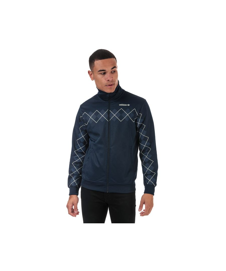 Image for Men's adidas Originals Argyle Track Top in Indigo