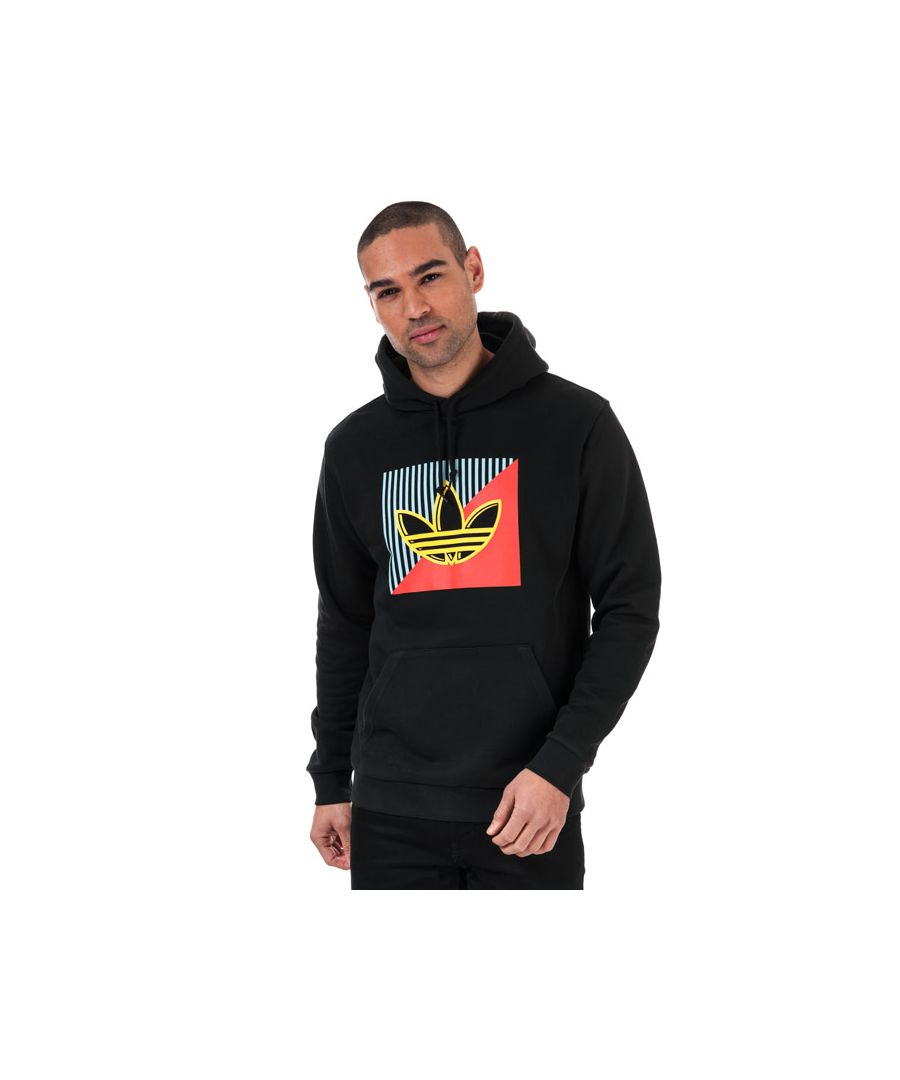 Image for Men's adidas Originals Diagonal Embroidered Hoody in Black