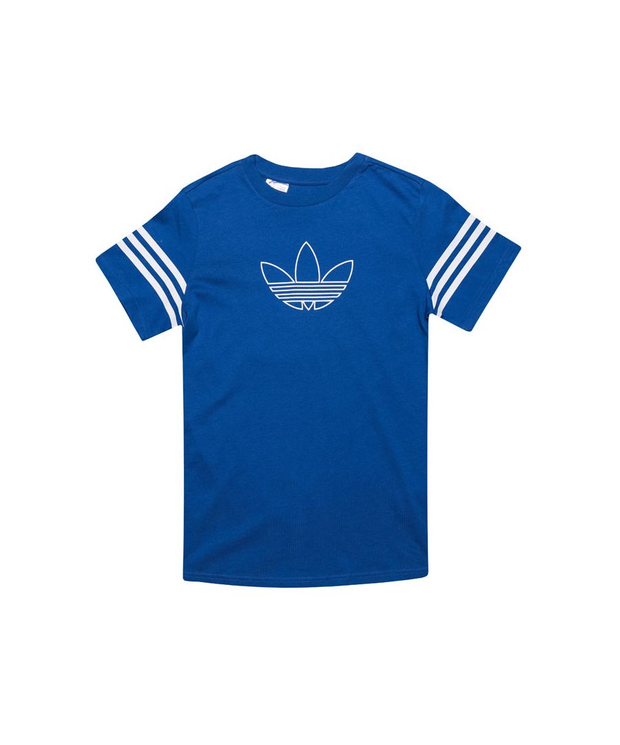 Image for Boy's adidas Originals Junior Outline T-Shirt in Royal Blue
