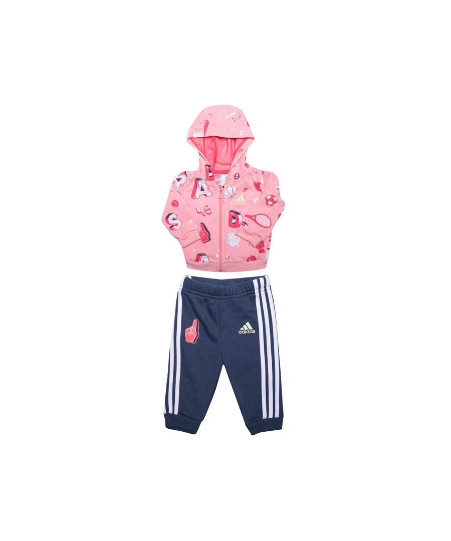 Image for Girl's adidas Infant Graphic Jogger Set in Pink