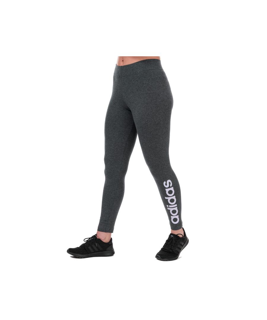 Image for Women's adidas Essentials Linear Leggings in Charcoal Marl