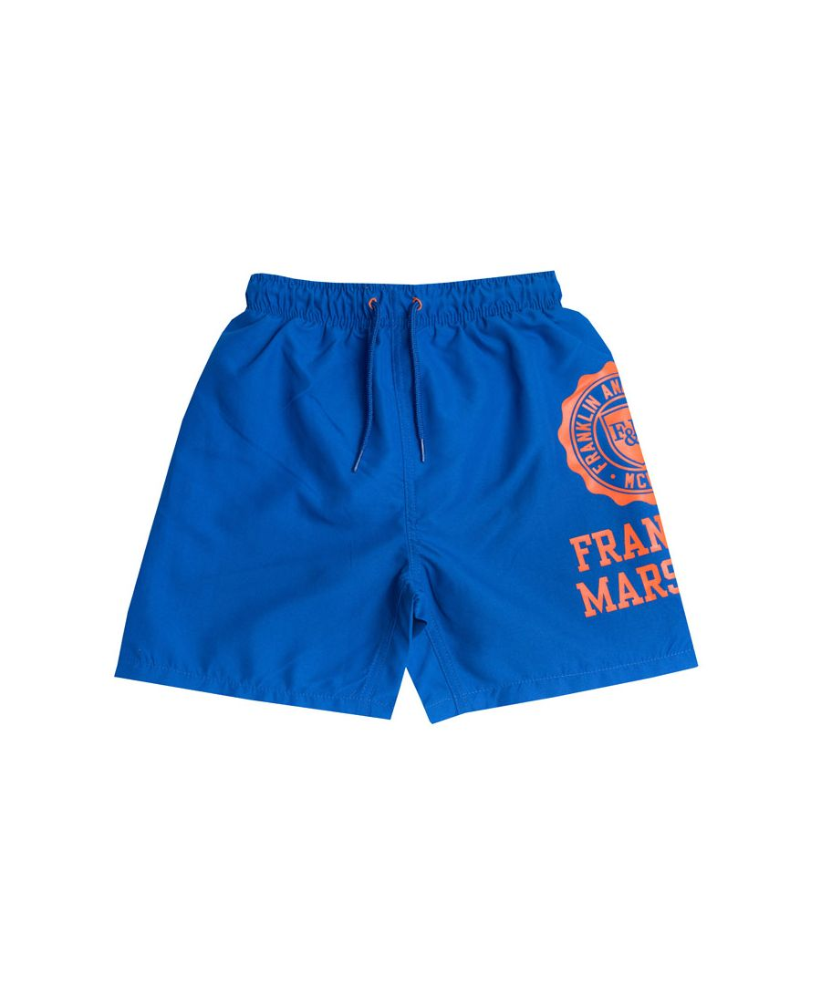 Image for Boy's Franklin And Marshall Infant Core Logo Swim Short in Blue