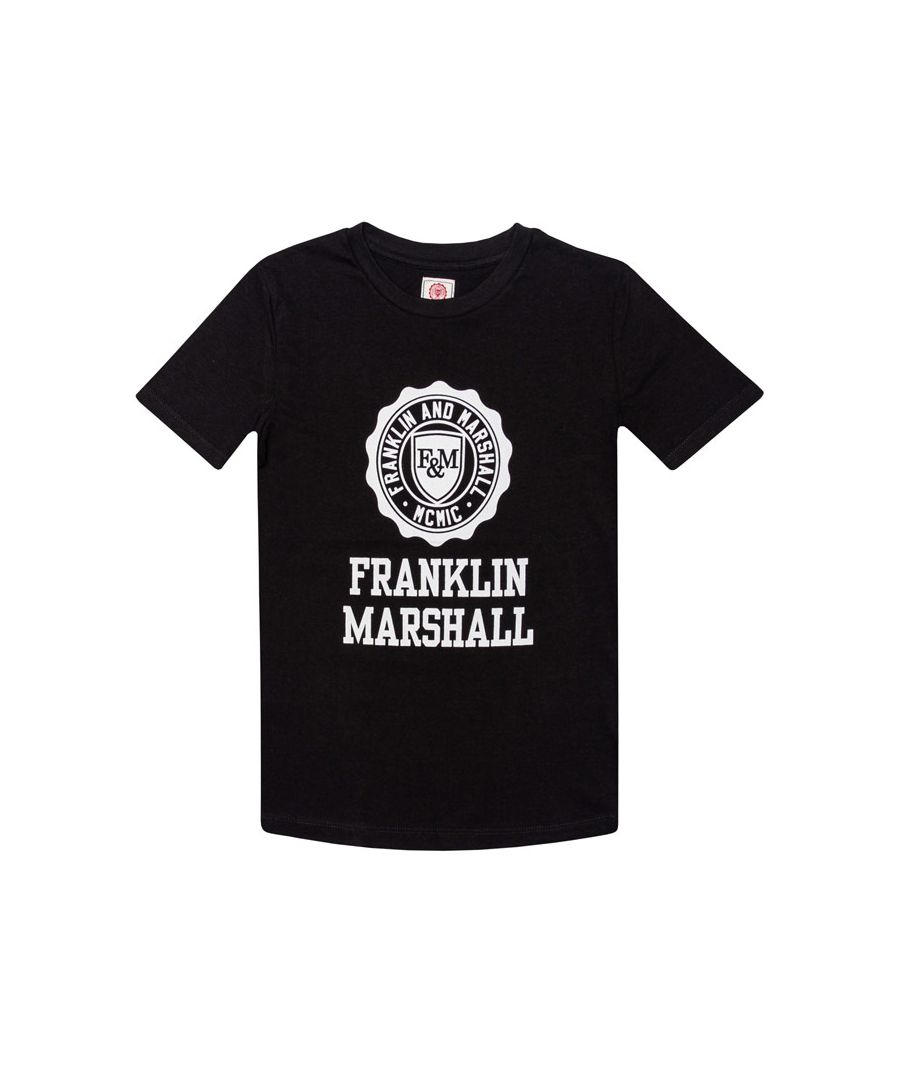 Image for Boy's Franklin And Marshall Infant F and M Logo T-Shirt in Black