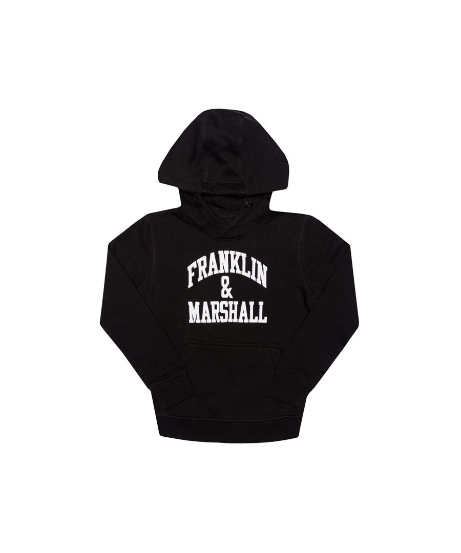 Image for Boy's Franklin And Marshall Junior F and M Hoody in Black