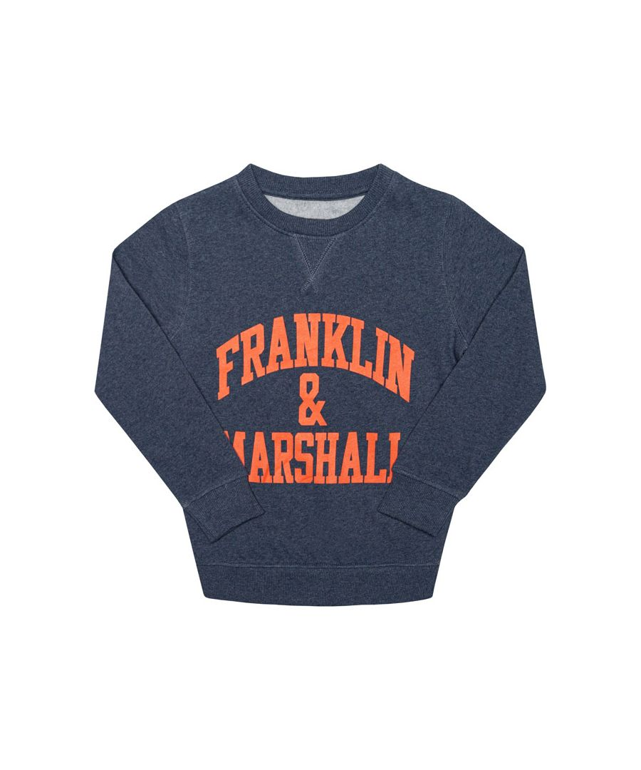 Image for Boy's Franklin And Marshall Junior F and M Sweater in Denim