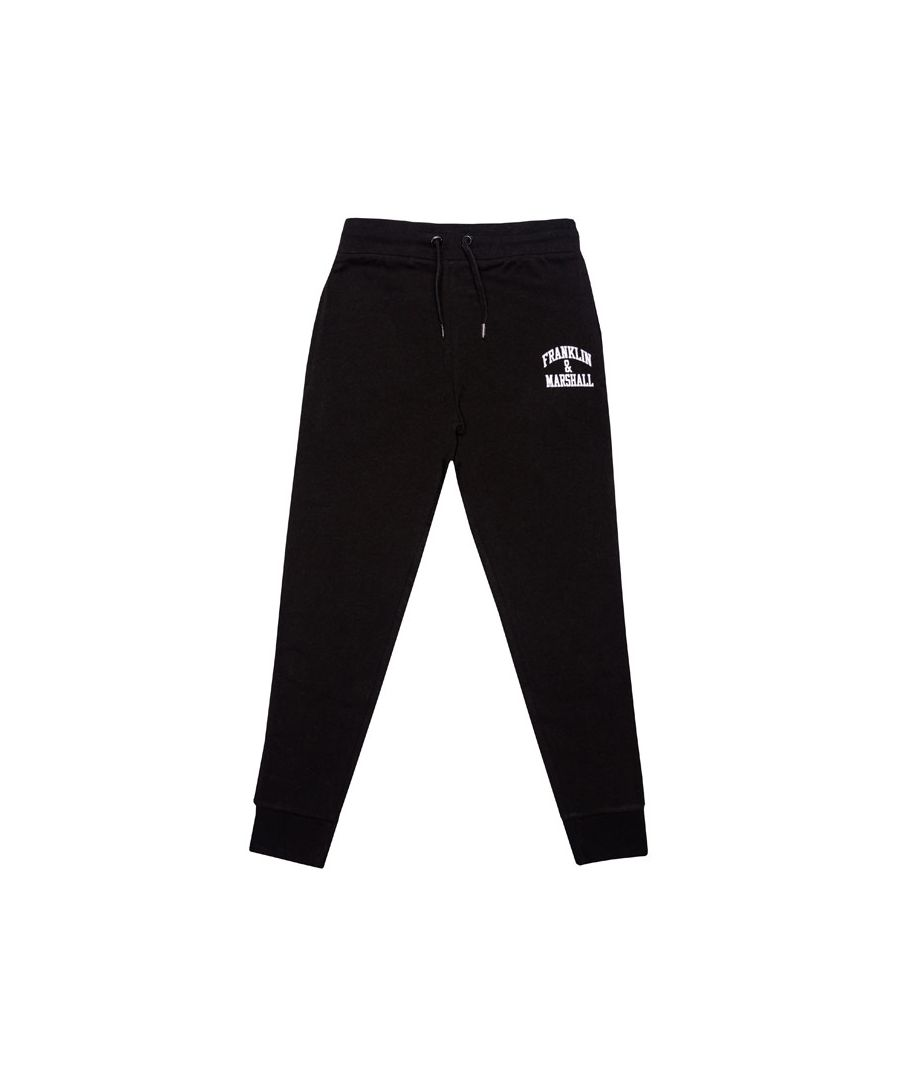 Image for Boy's Franklin And Marshall Junior F and M Joggers in Black
