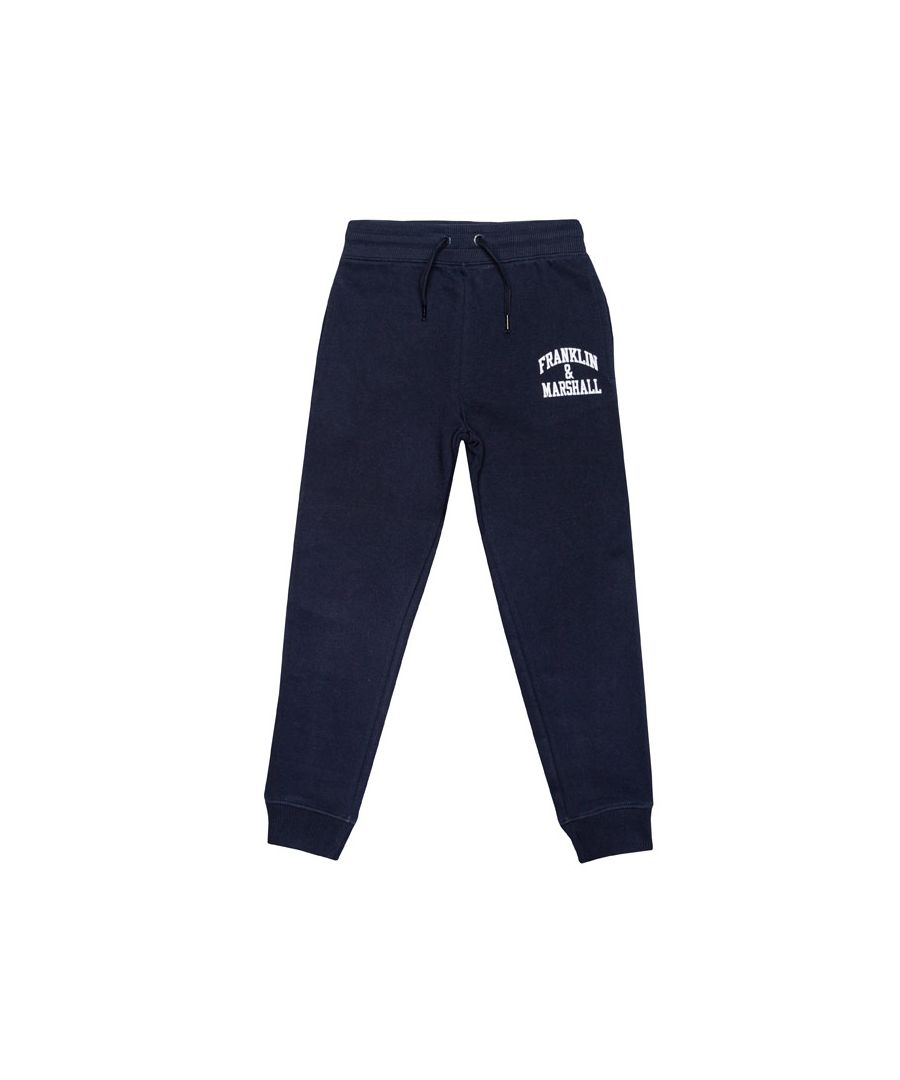 Image for Boy's Franklin And Marshall Junior F and M Joggers in Navy