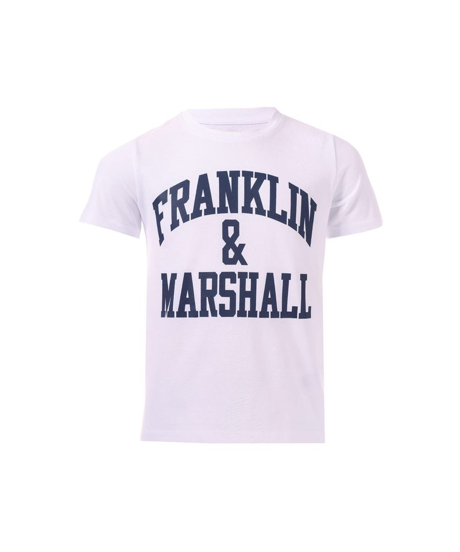 Image for Boy's Franklin And Marshall Junior F & M Logo T-Shirt in White